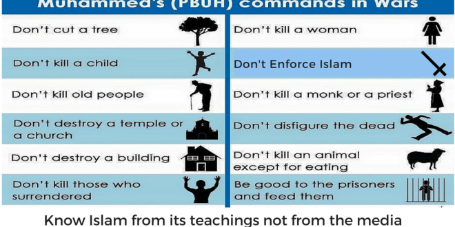 Teachings of Prophet Muhammad during the war