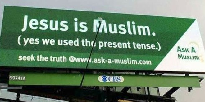 Jesus is Muslim billboard