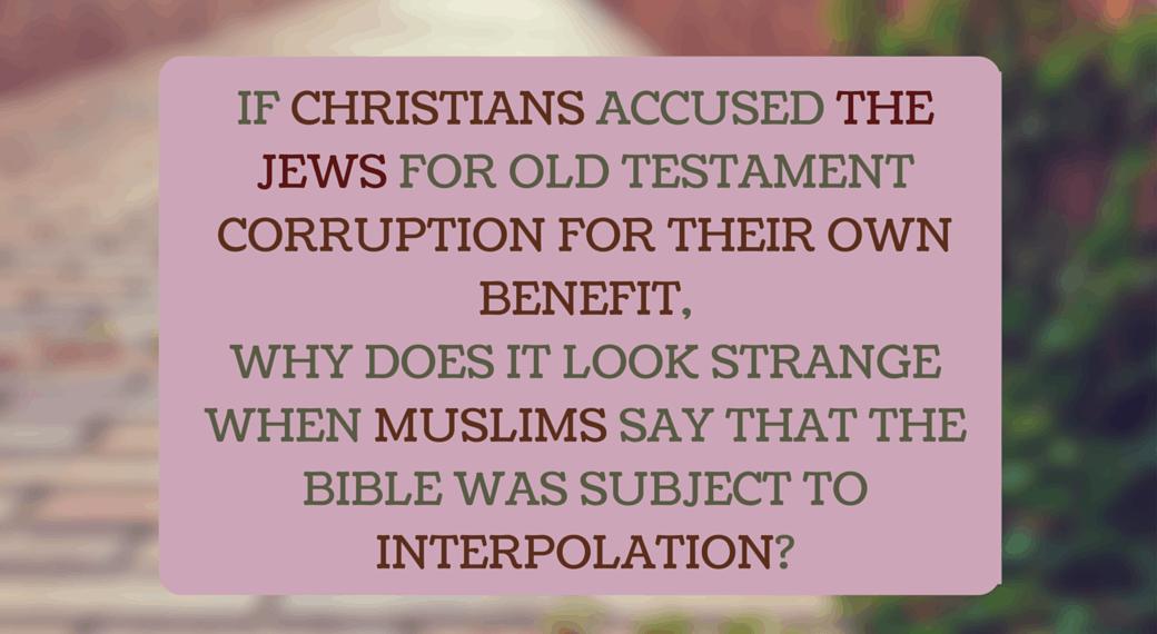 Jewish corruption of the Old Testament