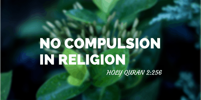 No compulsion in religion