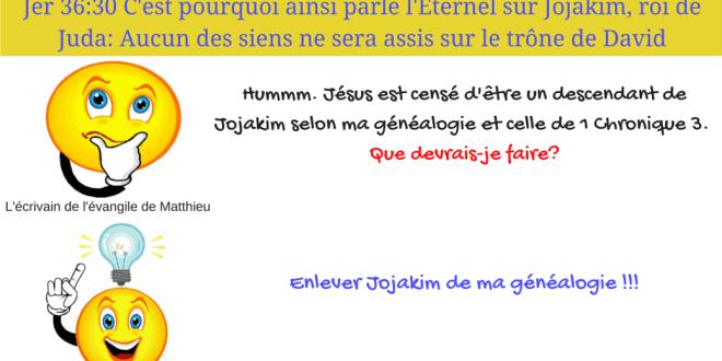 Des contradictions et des problemes majeurs dans la généalogie de Jésus