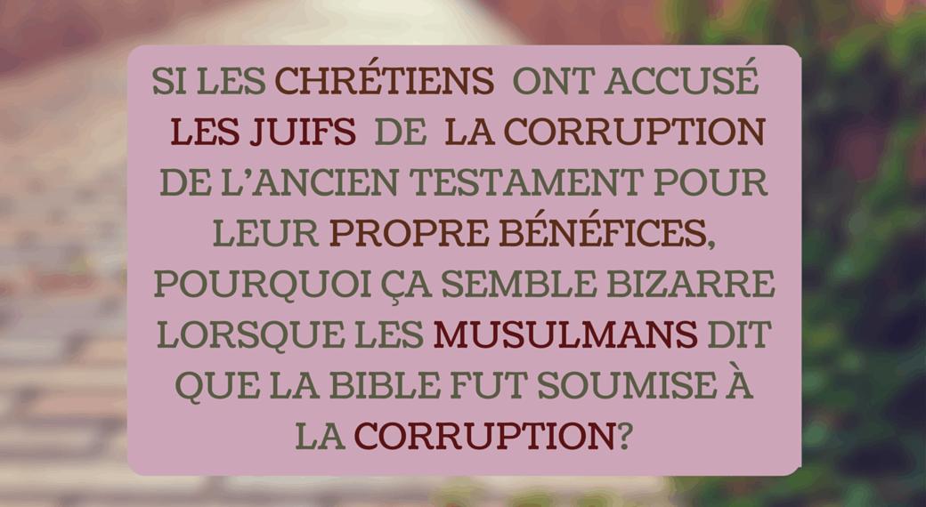 La corruption juive de l'ancien testament