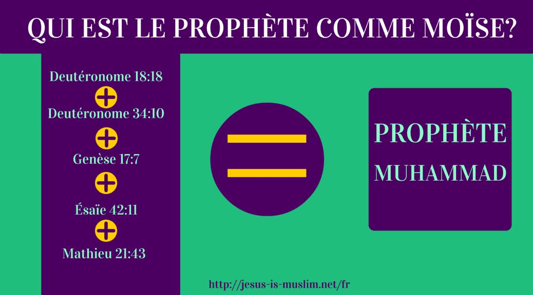 Le Prophète Muhammad est le Prophète comme Moïse prédit en Deutéronome 18:18