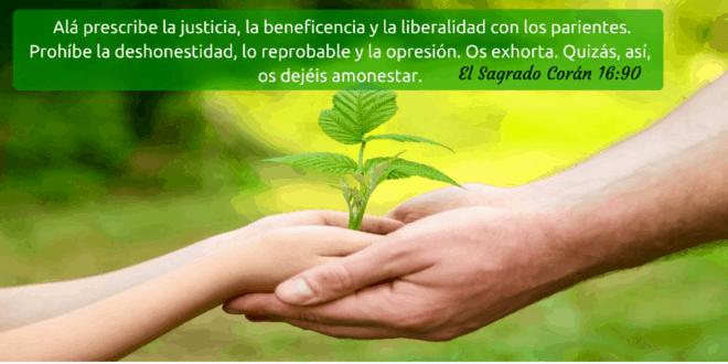 Alá prescribe la justicia, la beneficencia y la liberalidad con los parientes