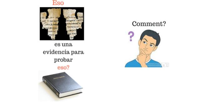 Los fragmentos no pueden ser una evidencia para probar toda la Biblia